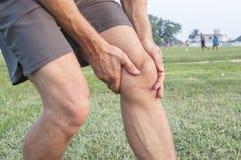 Lesão de joelho foto de stock royalty free