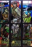 les 10èmes stations de la croix, Jésus est dépouillées de ses vêtements Image stock