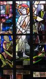 les 2èmes stations de la croix, Jésus est données sa croix Images libres de droits