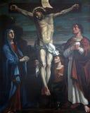 les 12èmes stations de la croix, Jésus meurt sur la croix Image stock