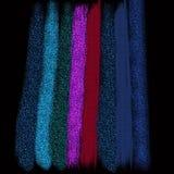 Les échantillons brillants de couleur conçoivent Scintillement métallique dispersé sur le fond vibrant Conception texturisée de t photo stock