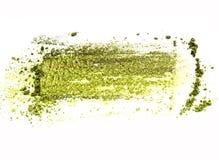 Les échantillons colorés écrasés de fard à paupières ont placé d'isolement sur le fond blanc Photographie stock