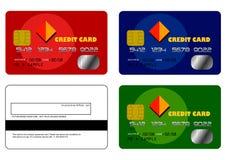 Les échantillons de carte de crédit ont placé 1 photographie stock