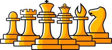 Les échecs figurent l'illustration Images libres de droits