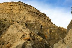 Les échelles cassées marquent les falaises de descente vers le bas à la baleine Chine, île du Wight R-U Photo stock