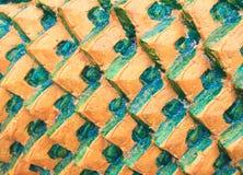 Les échelles de poissons en pierre décorent Photo stock