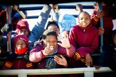 Les écoles locales organisent safari jour au parc national de Chobe Photos libres de droits