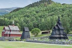 Les églises chez Borgund Photographie stock libre de droits