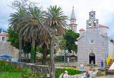 Les églises de Budva Photos libres de droits