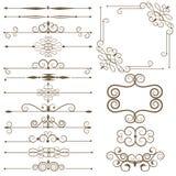 Les éléments décoratifs antiques, ont placé des diviseurs de page Photos stock