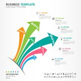 Les éléments d'Iinfographics diagram avec 6 étapes, options, icône de flèche, web design, présentation, illustration de vecteur d illustration de vecteur