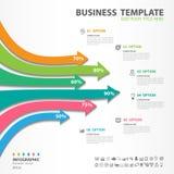 Les éléments d'Iinfographics diagram avec 6 étapes, options, icône de flèche, web design, présentation, illustration de vecteur d illustration libre de droits