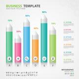 Les éléments d'Infographics diagram avec 6 étapes, options, glissière, présentation, graphique, diagramme, diagramme, vecteur de  Images libres de droits
