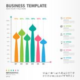 Les éléments d'Infographics diagram avec 6 étapes, options, icône de brosse, web design, présentation, illustration de vecteur de Illustration de Vecteur