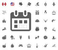 Les éléments de conception de jour de thanksgiving Badges et des labels dans le style de vintage Image stock