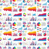 Les éléments de graphique de diagramme de diagramme dirigent le progrès infographic de flèches et de cercle de calibre de données Illustration Libre de Droits