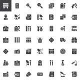 Les éléments de médecines légales dirigent l'ensemble d'icônes illustration de vecteur