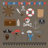 Les éléments de partie de sirène, les enfants sous-marins font la fête des idées, illustration de vecteur
