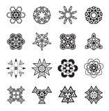 Les éléments géométriques abstraits, modèlent l'Aztèque ou la Maya Vector ethnique illustration de vecteur