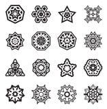 Les éléments géométriques abstraits, modèlent l'Aztèque ou la Maya Vector ethnique illustration stock
