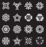 Les éléments géométriques abstraits, modèlent l'Aztèque ou la Maya Vector ethnique illustration libre de droits