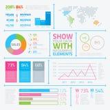 Les éléments infographic modernes dans le style plat dirigent e Images libres de droits
