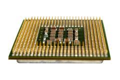 Les éléments micro de l'unité de traitement centrale d'ordinateur, goupilles de contact d'unité centrale de traitement Image libre de droits
