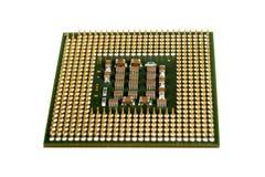 Les éléments micro de l'unité de traitement centrale d'ordinateur, goupilles de contact d'unité centrale de traitement Photographie stock libre de droits