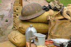Les éléments ont affiché d'un soldat de la guerre mondiale 2 photo libre de droits