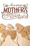 Les éléments scrapbooking de Valentine Day empaquettent le jour heureux de coeurs et de mères des textes Aspiration de main de le Images stock