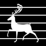 Les élans d'illustration de vecteur de cerfs communs silhouettent les lignes noires fond illustration stock