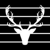 Les élans d'illustration de vecteur de cerfs communs silhouettent les lignes noires fond illustration libre de droits