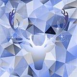 Les élans principaux d'illustration de vecteur de cerfs communs silhouettent le fond polygonal d'abrégé sur mosaïque illustration stock