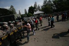 Les émeutes Photographie stock