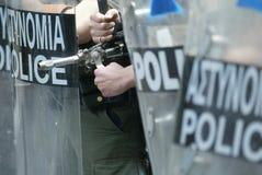 Les émeutes d'Athènes, étudiants se rassemblent, 2006 Photographie stock libre de droits