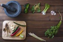 Les épices de la nourriture thaïlandaise sont épicées Image libre de droits
