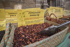 Les épices stockent au marché populaire à Grenade Photographie stock libre de droits