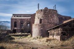 Les équipements antiques ont abandonné des mines d'Alquife Photo stock