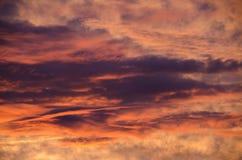 Les étés sont coucher du soleil chaud et beau Images libres de droits