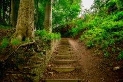 Les étapes à marcher vers le haut de la colline de la rivière Don dans Seaton se garent, Aberdeen, Ecosse Photos libres de droits