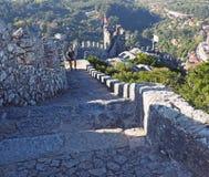 Les étapes au amarre le château, Sintra, Portugal photo libre de droits