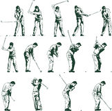 les étapes d'illustration de golf balancent le vecteur Photographie stock