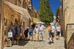 Les étapes de Calvari, Pollensa, Majorque Photo stock