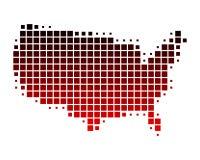 les états de carte de l'Amérique ont uni Photographie stock