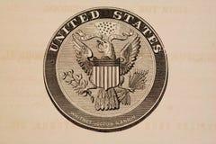 les états de sceau grand ont uni Photographie stock
