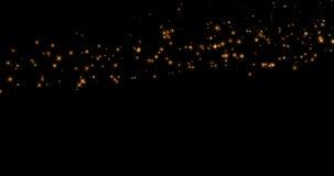 Les étoiles éclatantes de lueur d'or coupent la queue l'effet de transition sur le fond noir, bonne année de vacances illustration stock