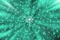 Les étoiles abstraites soufflent à l'arrière-plan de turquoise illustration stock