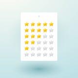 Les étoiles aiment marquer l'estimation Photos stock