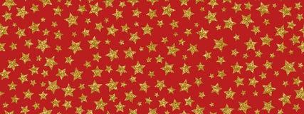 Les étoiles d'or de scintillement de Christmass répètent le fond sans couture de modèle Peut être employé pour le tissu, papier p illustration stock