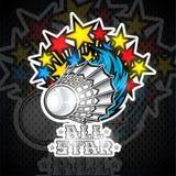 Les étoiles de couleur volent de Volanchici Logo de sport pour toute équipe de badminton illustration stock